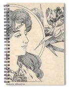 Victorian Lady - 1 Spiral Notebook