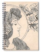 Victorian Lady - 3 Spiral Notebook