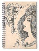 Victorian Lady - 4 Spiral Notebook