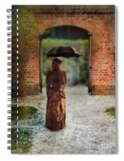 Victorian Lady By Brick Archway Spiral Notebook