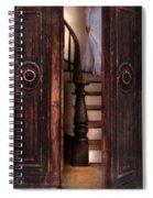 Victorian Lady Descending Stairs Spiral Notebook