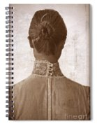 Victorian Lady From Behind Spiral Notebook