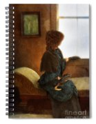 Victorian Lady Gazing Out The Window Spiral Notebook