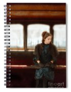 Victorian Lady On Street Car Spiral Notebook
