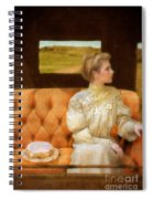 Victorian Lady Riding In A Carriage Spiral Notebook