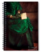 Victorian Lady With Letters Spiral Notebook