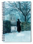 Victorian Woman At The Churchyard Gate Spiral Notebook