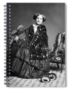 Victorian Woman With Furs C. 1853 Spiral Notebook