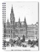 Vienna: City Hall, 1889 Spiral Notebook
