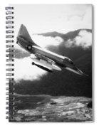 Vietnam War: A4 Skyhawk Spiral Notebook