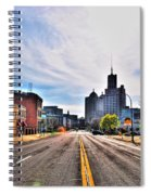 View Down Broadway Into Downtown Buffalo Ny Spiral Notebook