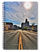 View Down Broadway Into Downtown Buffalo Ny Vert Spiral Notebook