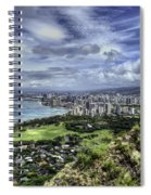 View From Diamond Head Spiral Notebook