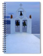 Beauty Of Santorini Greece Spiral Notebook
