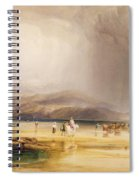 View From Snowdon From Sands Of Traeth Mawe Spiral Notebook