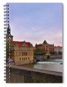 View From The Charles Bridge Revisited Spiral Notebook