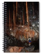 View Inside Kaumana Lava Tube, Hawaii Spiral Notebook