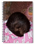 View Of A Mother Holding Her Baby With Only The Hair On The Head Visible Spiral Notebook