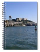 View Of Alcatraz From A Boat That Is Leaving The Island Spiral Notebook