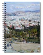 View Of Athens From Acropolis Spiral Notebook