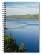 View Of Boulardarie Island From Seal Spiral Notebook