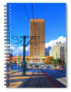View Of Downtown Buffalo From The Tracks Spiral Notebook