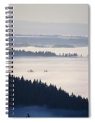 View Of Fog-covered Willamette Valley Spiral Notebook