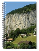 View Of Greenery And Waterfalls On A Swiss Cliff Spiral Notebook