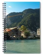 View Of Interlaken Across The Stream Spiral Notebook