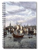 View Of London, 1550 Spiral Notebook