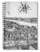 View Of London, 1647 Spiral Notebook