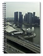 View Of Marina Bay Sands And Other Buildings From The Singapore  Spiral Notebook