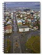 View Of Reykjavik Spiral Notebook
