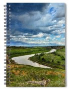 View Of River With Storm Clouds Spiral Notebook