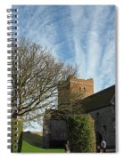 View Of St Mary Church And Clouds In Dover Castle Spiral Notebook