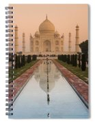View Of Taj Mahal Reflecting In Pond Spiral Notebook