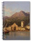 View Of Taormina Sicily Spiral Notebook