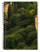 View Of The Alhambra In Spain Spiral Notebook