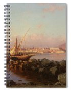 View Of The Bay Of Naples Spiral Notebook