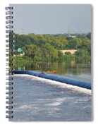 View Of The Fairmount Dam  Spiral Notebook