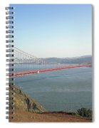 View Of The Golden Gate Bridge And San Francisco From A Distance Spiral Notebook