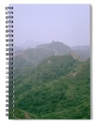 View Of The Great Wall Of China Spiral Notebook