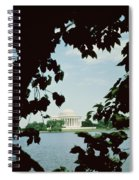View Of The Jefferson Memorial Spiral Notebook