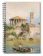 View Of The Sbocco Della Cloaca Massima Rome Spiral Notebook