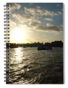 View Of The Thames At Sunset With London Eye In The Background Spiral Notebook
