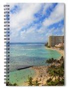 View Of Waikiki And Beach Spiral Notebook