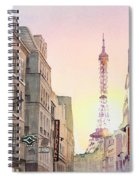 View On Eiffel Tower From Rue Saint Dominique Paris France Spiral Notebook