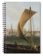 View On The Thames With Westminster Bridge Spiral Notebook