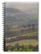 View Over The Tuscan Hills From San Gimignano Italy Spiral Notebook