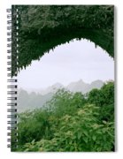 View Through Moon Hill In Guangxi In China Spiral Notebook